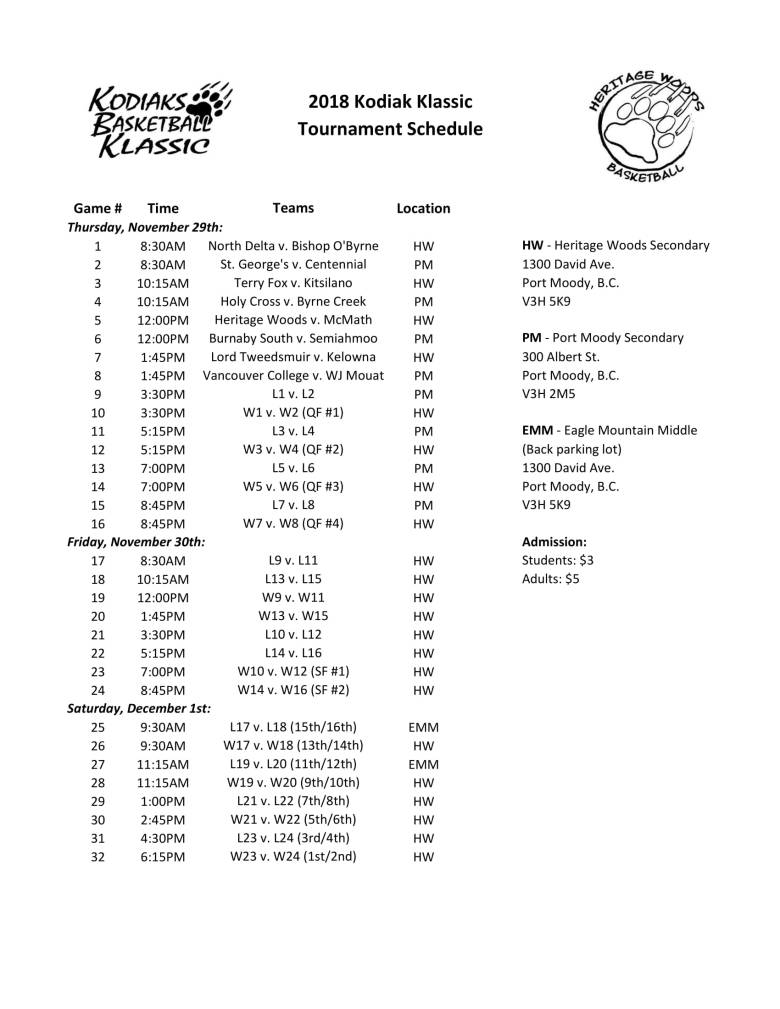 2018 Tournament Schedule-1